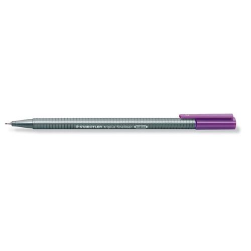 Fineliner Triplus 334 0,3mm Dreikant violett Staedtler 334-6 Produktbild Additional View 1 L