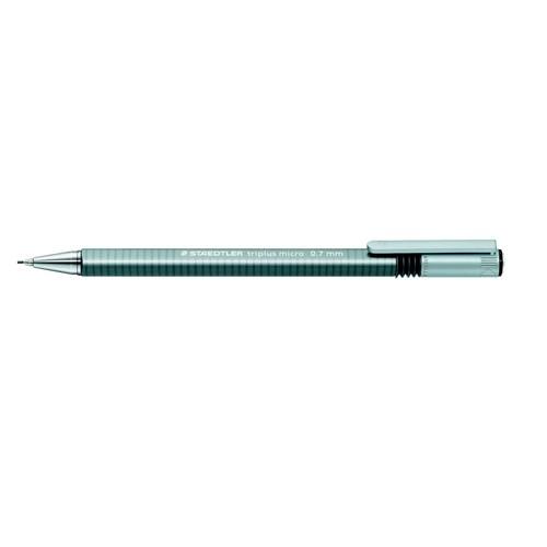 Druckbleistift Triplus Micro 774 0,7mm Dreikant grau Staedtler 77427 Produktbild Front View L