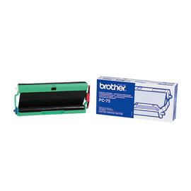 Thermotranfserrolle für Fax T102/104/106 schwarz Brother PC75 Produktbild