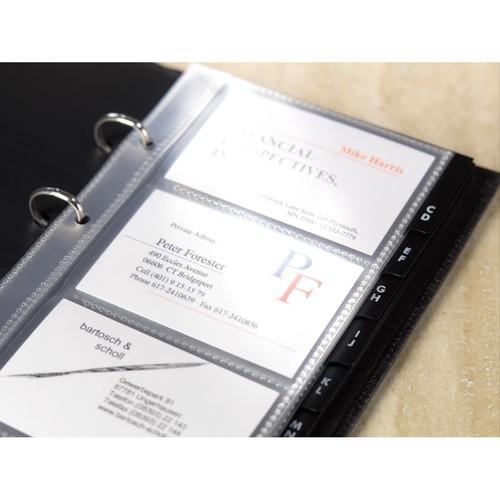 Visitenkartenhüllen für 80Karten transparent Kunststoff Sigel VZ350 (PACK=10 STÜCK) Produktbild Additional View 2 L
