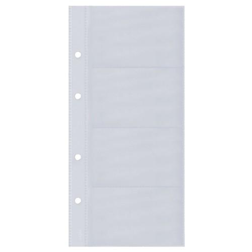 Visitenkartenhüllen für 80Karten transparent Kunststoff Sigel VZ350 (PACK=10 STÜCK) Produktbild Additional View 1 L