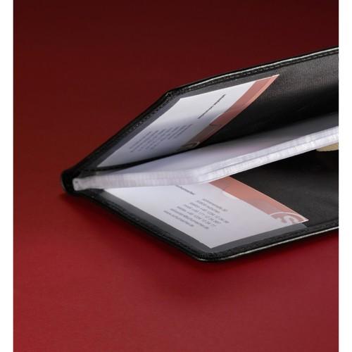Visitenkartenmappe Torino für 120Karten schwarz Leder Sigel VZ202 Produktbild Additional View 1 L