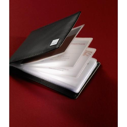 Visitenkartenmappe Torino für 40Karten schwarz Leder Sigel VZ201 Produktbild Additional View 1 L