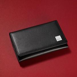 Visitenkartenmappe Torino für 30 Karten und 3 Fächer schwarz Leder Sigel VZ200 Produktbild