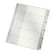 Register A4 überbreit 238x297mm Zahlen 1-5 grau Plastik Leitz 1283-00-85 Produktbild