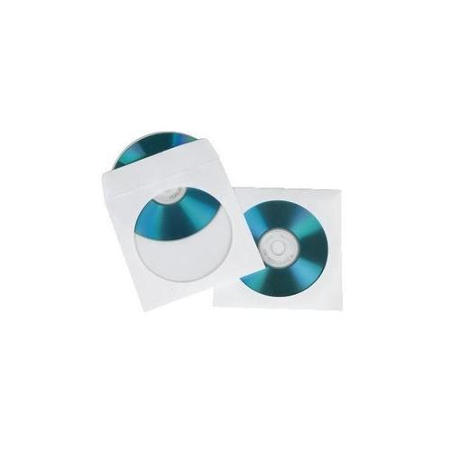 CD/DVD Leerhülle weiß Papier Hama 00062672 (PACK=100 STÜCK) Produktbild Front View L