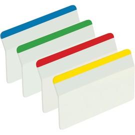 Haftstreifen Post-it Index Strong 50,8x38mm 4 Grundfarben gebogen transparent 3M I686-A1 (PACK = 4x6 STÜCK) Produktbild