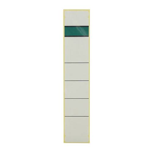 Rückenschilder für Handbeschriftung 39x192mm kurz schmal weiß selbstklebend (BTL=10 STÜCK) Produktbild Front View L