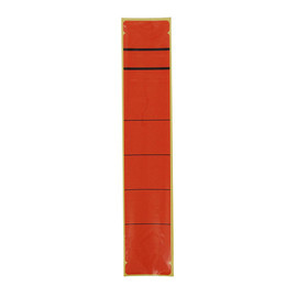 Rückenschilder für Handbeschriftung 39x192mm kurz schmal rot selbstklebend (BTL=10 STÜCK) Produktbild
