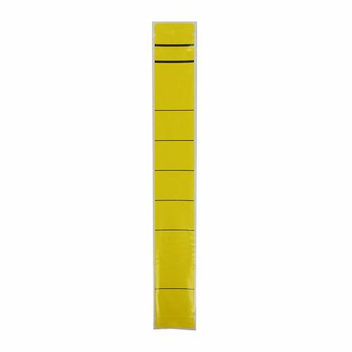Rückenschilder für Handbeschriftung 39x280mm lang schmal gelb selbstklebend 5865 (BTL=10 STÜCK) Produktbild Front View L