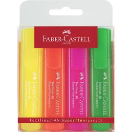 Textmarker TL 46 Superfluorescent Etui Keilspitze sortiert Faber Castell 154604 (PACK=4 STÜCK) Produktbild