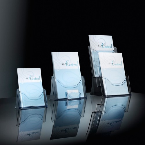 Tisch-Prospekthalter A4 30mm glasklar Acryl Sigel LH110 Produktbild Additional View 4 L