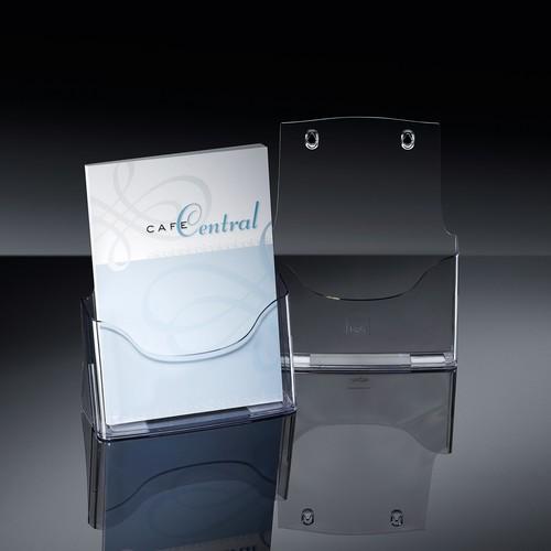 Tisch-Prospekthalter A4 30mm glasklar Acryl Sigel LH110 Produktbild Additional View 5 L