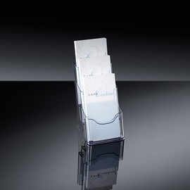 Tisch-Prospekthalter 3x Din Lang je 30mm glasklar Acryl Sigel LH133 Produktbild