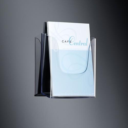Wand-Prospekthalter 1x A4 45mm glasklar Acryl Sigel LH115 Produktbild
