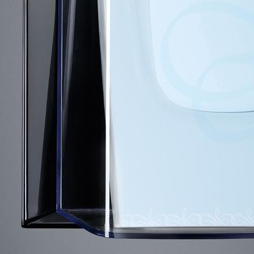 Wand-Prospekthalter 1x A4 45mm glasklar Acryl Sigel LH115 Produktbild Additional View 2 L