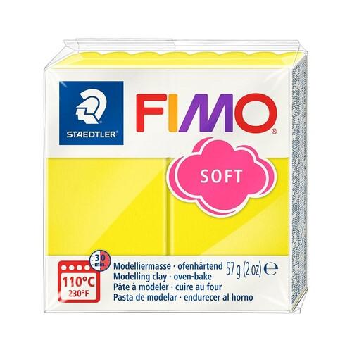 Modelliermasse FIMO Soft ofenhärtend 56g limone Staedtler 8020-10 Produktbild