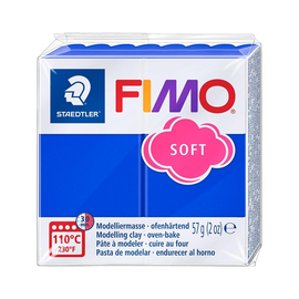 Modelliermasse FIMO Soft ofenhärtend 56g brillantblau Staedtler 8020-33 Produktbild