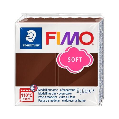 Modelliermasse FIMO Soft ofenhärtend 56g schokolade Staedtler 8020-75 Produktbild