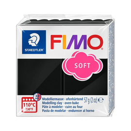 Modelliermasse FIMO Soft ofenhärtend 56g schwarz Staedtler 8020-9 Produktbild