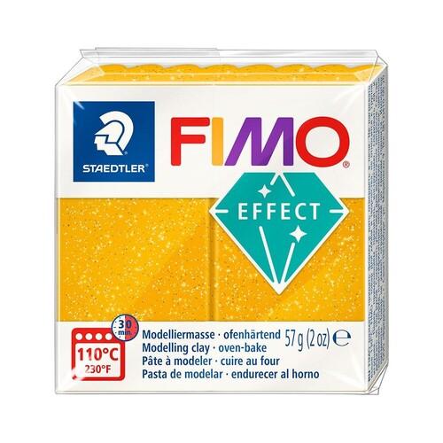 Modelliermasse FIMO Soft ofenhärtend 56g glitter gold Staedtler 8020-112 Produktbild