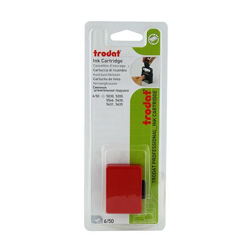 Ersatz-Stempelkissen rot Trodat 6/50 Blisterpackung (PACK=2 STÜCK) Produktbild Front View L