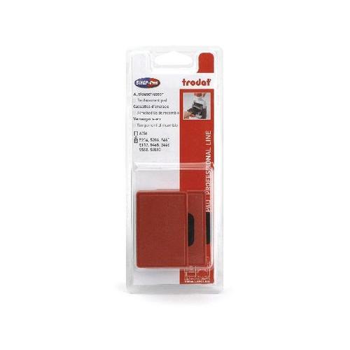 Ersatz-Stempelkissen rot Trodat 6/56 Blisterpackung (PACK=2 STÜCK) Produktbild Front View L