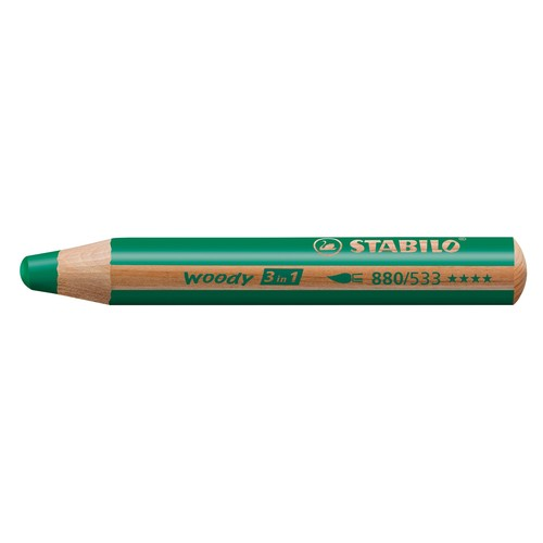 Multitalent-Stift woody 3 in 1 dunkelgrün 10mm Mine Stabilo 880/533 Produktbild
