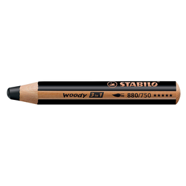 Multitalent-Stift woody 3 in 1 schwarz 10mm Mine Stabilo 880/750 Produktbild