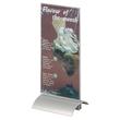 Tischaufsteller PRESENTER 1/3 A4 107x237x85mm Acryl Aluminiumfuß Durable 8587-19 Produktbild Additional View 1 S