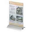 Tischaufsteller PRESENTER 1/3 A4 107x237x85mm Acryl Aluminiumfuß Durable 8587-19 Produktbild Additional View 3 S