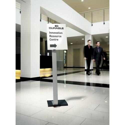 Bodenständer INFO SIGN STAND A3 125cm silber/Acryl Aluminium Durable 4813-23 Produktbild Additional View 1 L