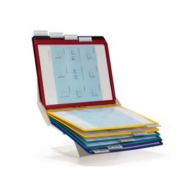Sichttafelwandhalter und -tischständer VARIO PRO 10 inkl. 10 Tafeln Durable 5579-00 Produktbild