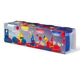 Spielknete Noris Club 4x130g weiß, gelb, rot, blau Staedtler 813401 Produktbild