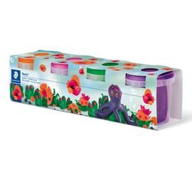 Spielknete Noris Club 4x130g orange, pink, grün, lila Staedtler 813402 Produktbild