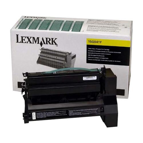 Toner für Optra C752/C760/E762 6000Seiten yellow Lexmark 15G041Y Produktbild Front View L