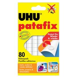 Klebepads patafix weiß wiederablösbar wiederverwendbar UHU 48810 (PACK=80 STÜCK) Produktbild