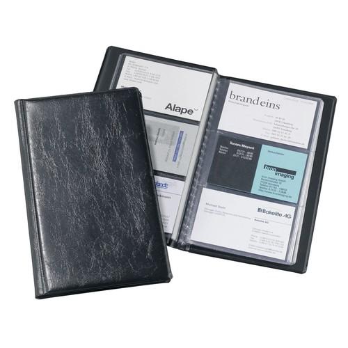 Visitenkartenalbum Visifix 72 115x195mm für 72Karten schwarz Durable 2400-01 Produktbild Front View L