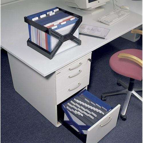 Hängekorb CARRY PLUS 362x320x260mm für 30 Hängemappen schwarz Durable 2611-01 Produktbild Additional View 2 L