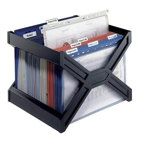 Hängekorb CARRY PLUS 362x320x260mm für 30 Hängemappen schwarz Durable 2611-01 Produktbild Additional View 4 L