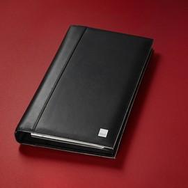 Visitenkartenringbuch mit Register Torino für 160Karten schwarz Leder Sigel VZ204 Produktbild