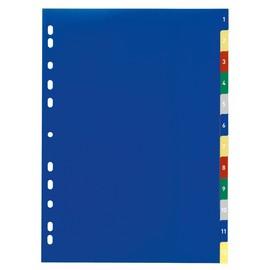 Register A4 230x297mm Zahlen 1-12 mehrfarbig Plastik Durable 6750-27 Produktbild