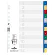 Register A4 230x297mm Zahlen 1-12 mehrfarbig Plastik Durable 6750-27 Produktbild Additional View 1 S