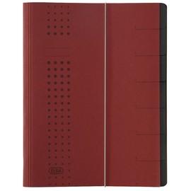 Ordnungsmappe chic mit Gummizug A4 mit 7 Fächern bordeaux Karton Elba 400002021 Produktbild