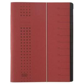 Ordnungsmappe chic mit Gummizug A4 mit 12 Fächern bordeaux Karton Elba 400001990 Produktbild