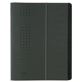 Ordnungsmappe chic mit Gummizug A4 mit 12 Fächern anthrazit Karton Elba 400001032 Produktbild