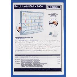 Dokumentenhalter A4 transparent/blau magnetisch Franken ITSA4M 03 Produktbild