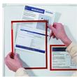 Dokumentenhalter A4 transparent/rot magnetisch Franken ITSA4M/5 01 (PACK=5 STÜCK) Produktbild Additional View 1 S