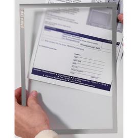 Dokumentenhalter A4 transparent/grau magnetisch Franken ITSA4M/5 12 (PACK=5 STÜCK) Produktbild