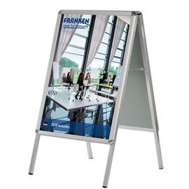 Kundenstopper A1 59,4x84,1cm silber 4-Bein Gestell Franken BSA1 Produktbild